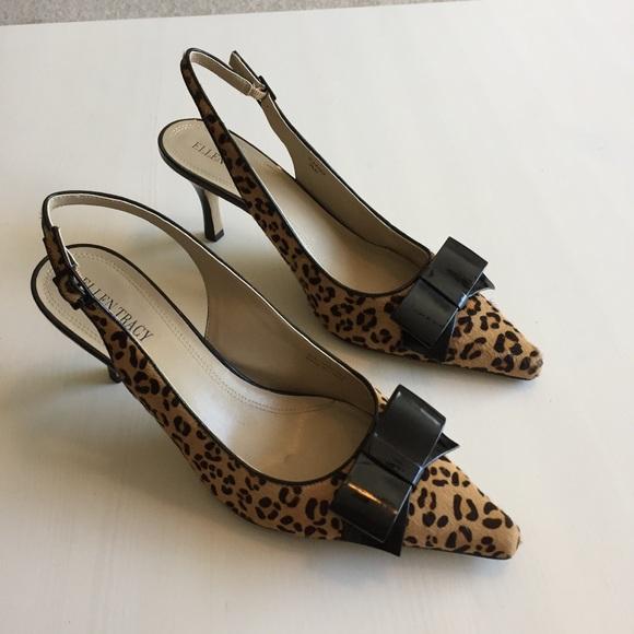 e5e85346e93c Ellen Tracy Shoes - Ellen Tracy Leopard Animal Print Slingback Heel